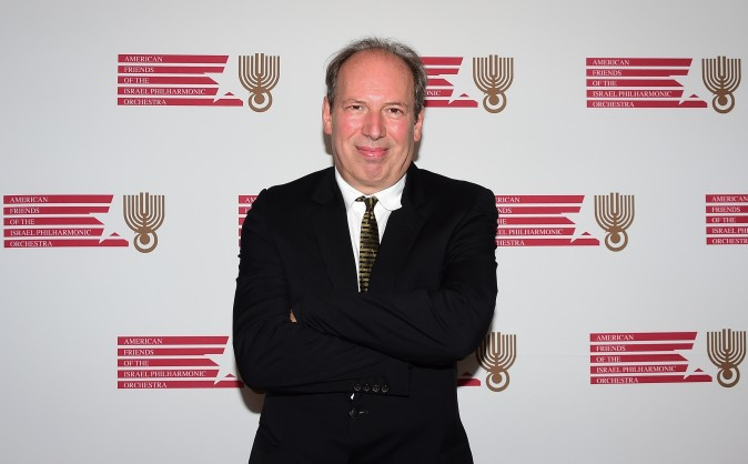 German composer Hans Zimmer poses on arrival at the Israeli Philharmonic Orchestras Lifetime Achievement Award for which he was honored on Wednesday, July 16, 2014 at the Wallis Annenberg Center for the Performing Arts in Beverly Hills, California. (Frederic J. Brown/AFP/Getty Images)