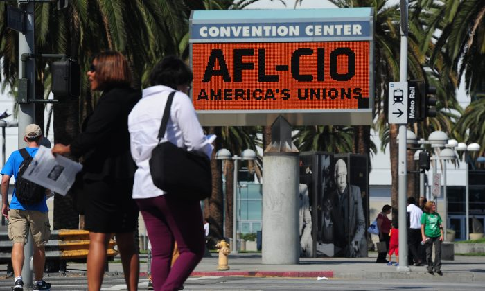 The Los Angeles Convention Center where the quadrennial AFL-CIO Convention is taking place on Sept. 9, 2013. (Frederic J. Brown/AFP/Getty Images)