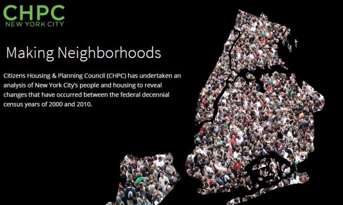 """CHPC's """"Making Neighborhoods"""" project analyzes movements and grouping of New Yorkers based on similar characteristics. (CHPCNY)"""