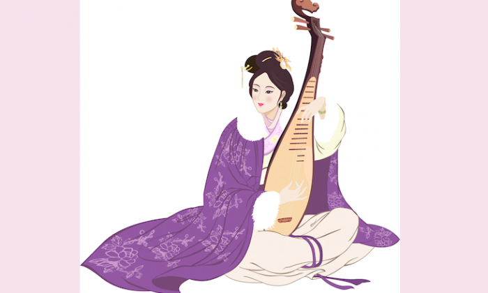 """Wang Zhaojun, one of the famous Chinese """"Four Beauties,"""" sacrificed life in her homeland to promote peace between the Han and the Xiongnu peoples. (Yu-Child/Epoch Times)"""