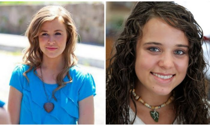 Jana Duggar, left, in a file photo from earlier this year; Jinger Duggar, right, in a 2010 file photo. (Duggar Family)