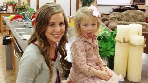 Jana Duggar with a younger sister in a 2013 file photo. (Duggar Family)