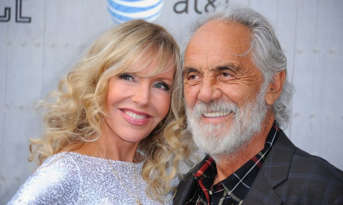 Shelby Chong, left, and Tommy Chong arrive at the Guys Choice Awards at Sony Pictures Studios on Saturday, June 7, 2014, in Culver City, Calif. (Photo by Richard Shotwell/Invision/AP)