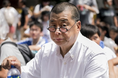 Hong Kong media tycoon and pro-democracy supporter Jimmy Lai attends a rally near the government headquarters in Hong Kong on September 28, 2014. (Alex Ogle/AFP/Getty Images)