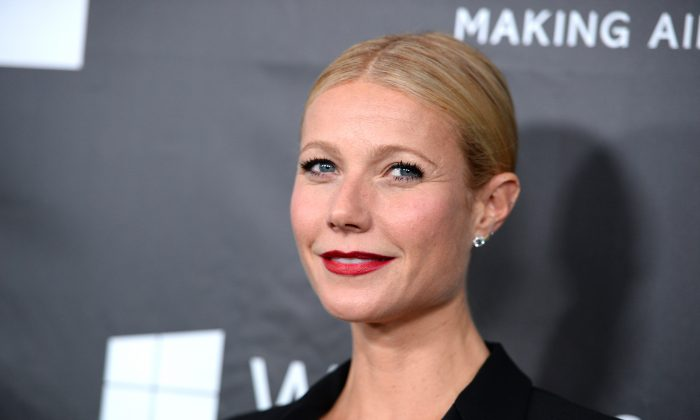 Gwyneth Paltrow arrives at the 2014 amfAR Inspiration Gala at Milk Studios on Wednesday, Oct. 29, in Los Angeles. (Photo by Jordan Strauss/Invision/AP)