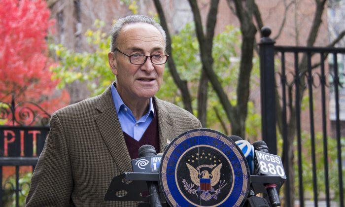 New York Sen. Chuck Schumer. (Shannon Liao/Epoch Times)