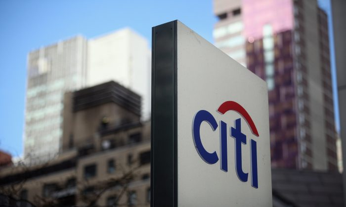 A 'Citi' sign is displayed outside Citigroup Center near Citibank headquarters in Manhattan on December 5, 2012 in New York City. (Mario Tama/Getty Images