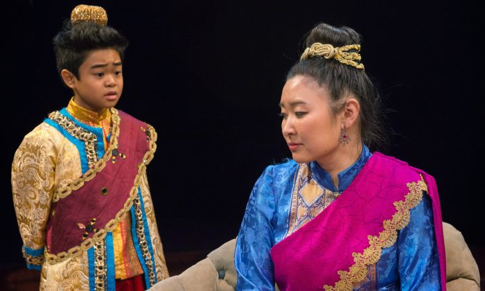 The next king of Siam, played beautifully by Matthew Uzarraga, and his mother, Lady Thiang (Kristen Choi), in a most heartfelt performance. (Amy Boyle Photography, Mark Campbell and The Marriott Theatre)
