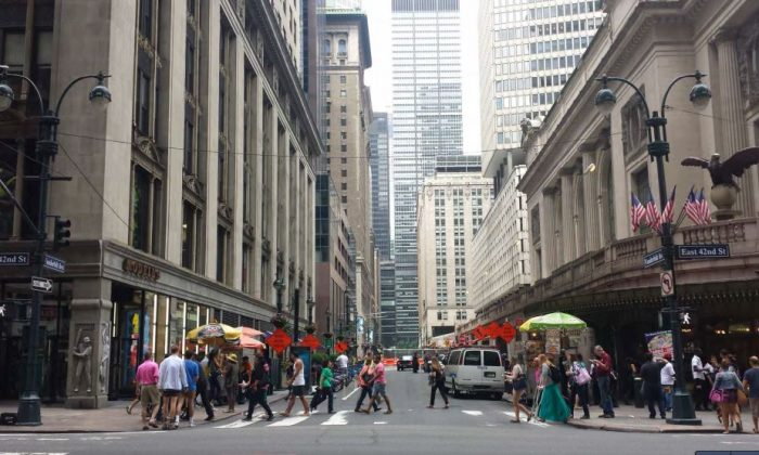 The site of the proposed One Vanderbilt building, west of Grand Central. (Department of City Planning)