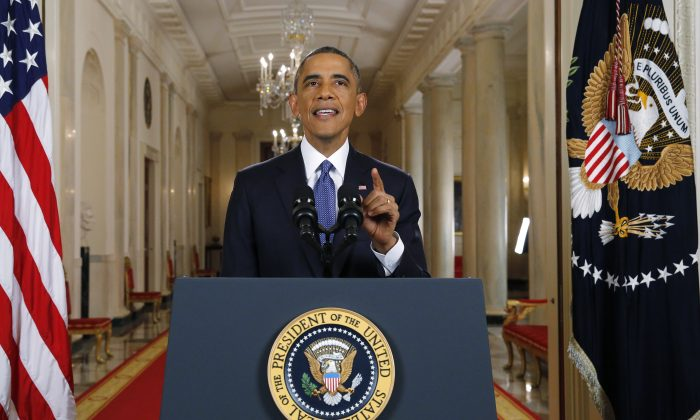 U.S. President Barack Obama announces executive actions on U.S. immigration policy during a nationally televised address from the White House, November 20, 2014 in Washington, DC. Obama outlined a plan on Thursday to ease the threat of deportation for about 4.7 million undocumented immigrants. (Jim Bourg-Pool/Getty Images)