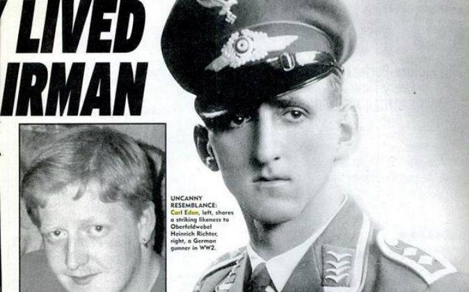 Left: Carl Edon Right: Nazi airman Heinrich Richter. (The Weekly World News)