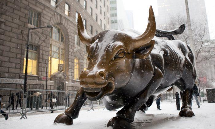 The bull of Wall Street. (Samira Bouaou/Epoch Times)