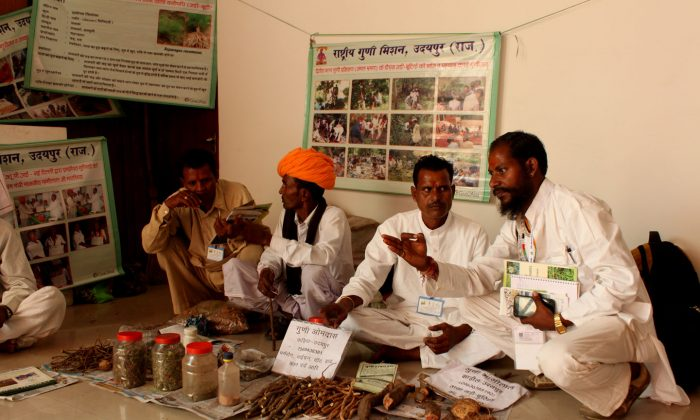 Traditional Indian medicine practitioners formed a National Coordination Committee on Nov. 7, 2014 during an Ayurveda Conference in New Delhi, India to seek recognition for their practices from the government. (Venus Upadhayaya/Epoch Times)