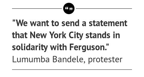 Article Quote: NYC Explodes with Ferguson Marches