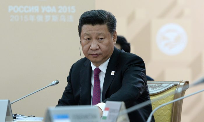 Chinese leader Xi Jinping attends a BRICS summit in Ufa, Russia on July 10, 2015. (Ria Novosti/Getty Images)