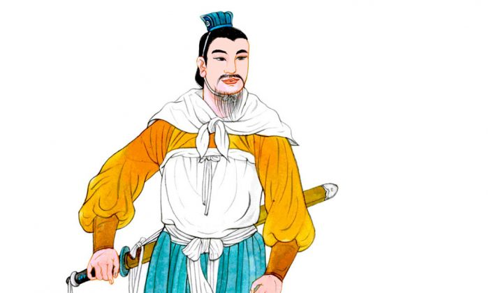 Han Xin, a brilliant strategist with a poor family background. (Blue Hsiao/Epoch Times)