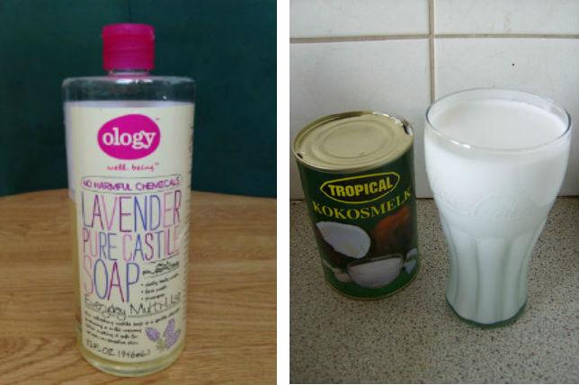 INSPIRED-DIY SHAMPOO-CASTILE SOAP AND COCONUT MILK RECIPE