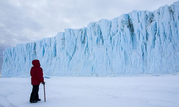"Christine Powell in ""Antarctica: A Year On Ice."" (Music Box Films)"