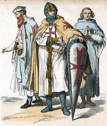 An 1870 depiction of the Knights Templar. (Wikimedia Commons)