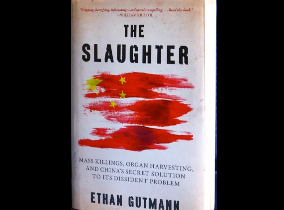 """The Slaughter: Mass Killings, Organ Harvesting, and China's Secret Solution to its Dissident Problem"" by Ethan Gutmann was released Aug. 12, 2014. (Pam McLennan/Epoch Times)"