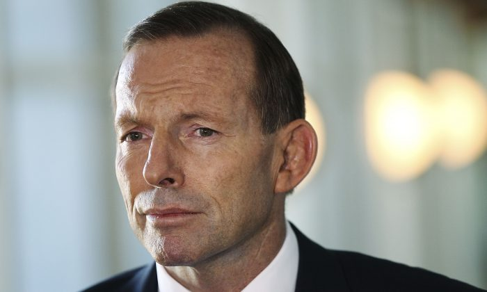 Prime Minister Tony Abbott speaks to the media at Parliament House on May 7, 2014 in Canberra, Australia. (Stefan Postles/Getty Images)