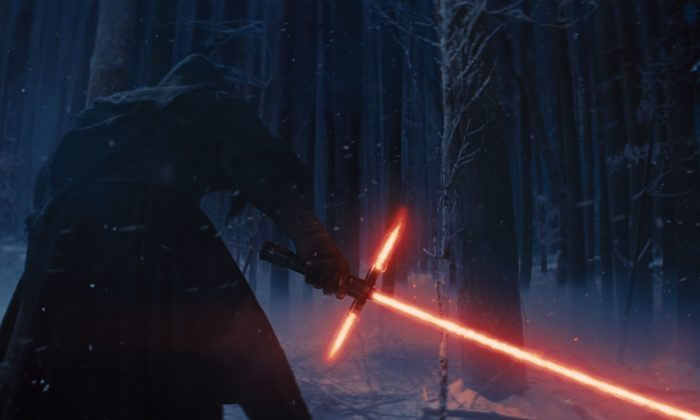 """In this image released by Disney, a scene is shown from the upcoming film, """"Star Wars: The Force Awakens,"""" expected in theaters on Dec. 18, 2015. (AP Photo/LucasFilm, Disney)"""
