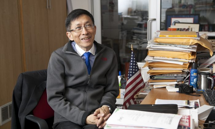 Wellington Z. Chen, executive director of the Chinatown Partnership, in his office in Manhattan, New York, on Nov. 18, 2014. (Samira Bouaou/Epoch Times)