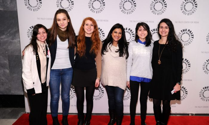 Reshma Saujani (3rd R) and a group of Girls Who Code attend The Paley Center For Media Presents: Portrayals Of Women In Science, Technlogy, Engineering, And Math at Paley Center For Media in New York City on December 8, 2014. (Ilya S. Savenok/Getty Images)