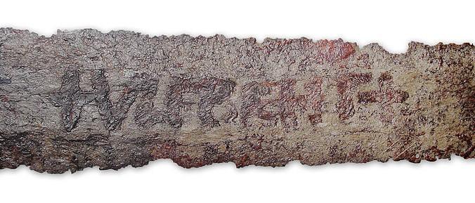 An Ulfberht sword displayed at the Germanisches Nationalmuseum, Nuremberg, Germany. (Martin Kraft/Wikimedia Commons)