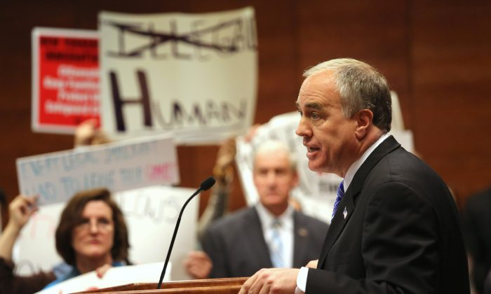 New York State Comptroller Thomas DiNapoli voices his support for the New York State Dream Act at a rally held at CUNY Baruch College on May 28, 2013 in New York City. (John Moore/Getty Images)