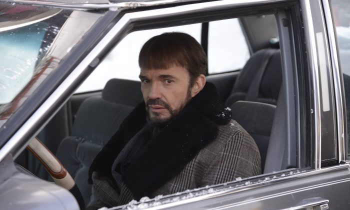 "In this image released by FX, Billy Bob Thornton appears in a scene from ""Fargo."" Thornton was nominated for a Golden Globe for best actor in a TV movie or mini-series for his role. The 72nd annual Golden Globe awards will air on NBC on Sunday, Jan. 11. (AP Photo/FX, Chris Large)"