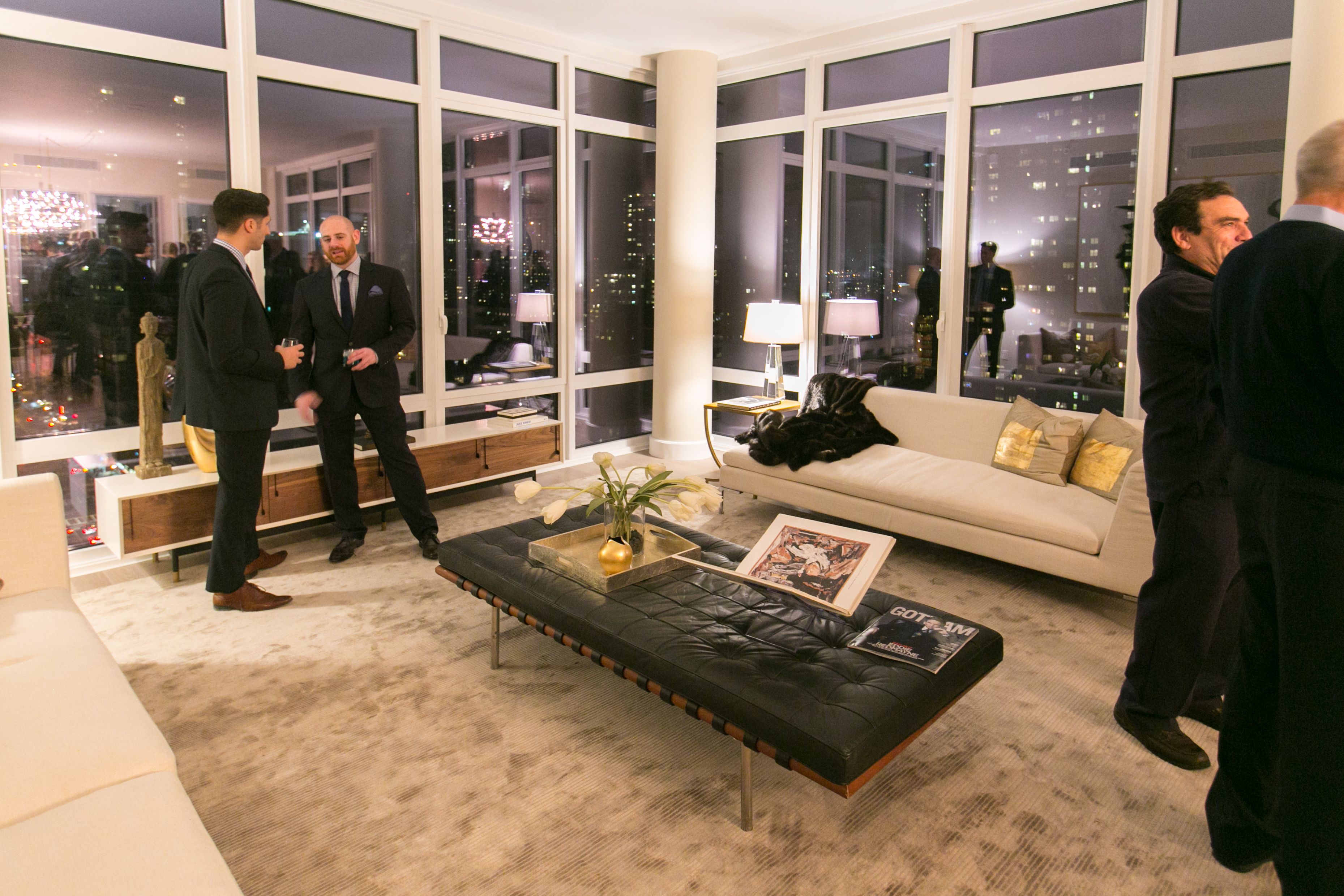 The Main Livingroom Of The The Charles, A New Condominium Development On  The Upper East