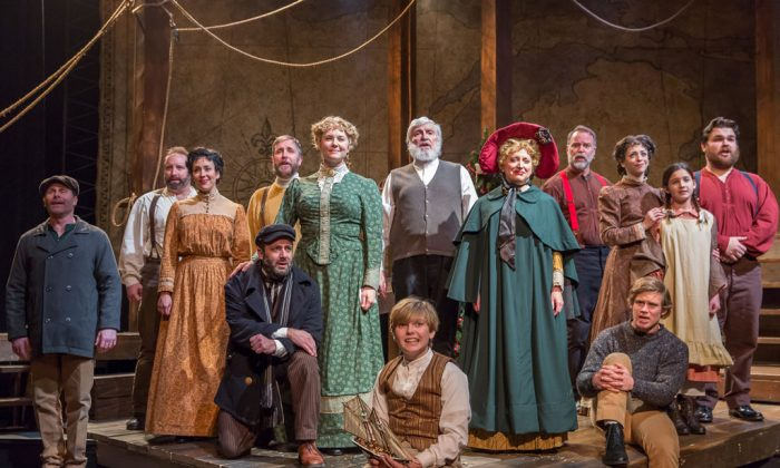"""The entire cast of """"The Christmas Schooner: A Musical."""" (Brett Beiner)"""