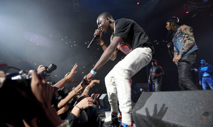 Rapper Bobby Shmurda performs on stage at Barclays Center of Brooklyn on Oct. 30. Shmurda was recently arrested on guns and drugs charges. (Bryan Bedder/Getty Images for Power 105.1)