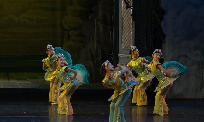 "Gelsey Kirkland Ballet members in one of the many exotic dances performed in ""The Nutcracker."" (Igor Siggul)"