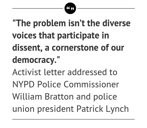Quote: Protestors Reject New York's Request to Pause Demonstrations Until After Officers Funerals