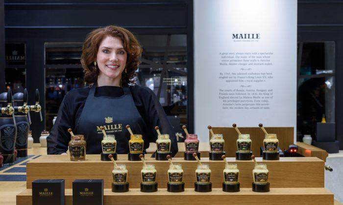 Maille mustard sommelier Pierette Huttner. (Maille)