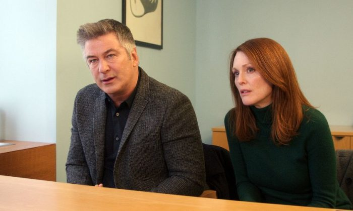 "Married couple John (Alec Baldwin) and Alice (Julianne Moore) in the neurologist's office in ""Still Alice."" (Denis Lenoir/Sony Pictures Classics)"