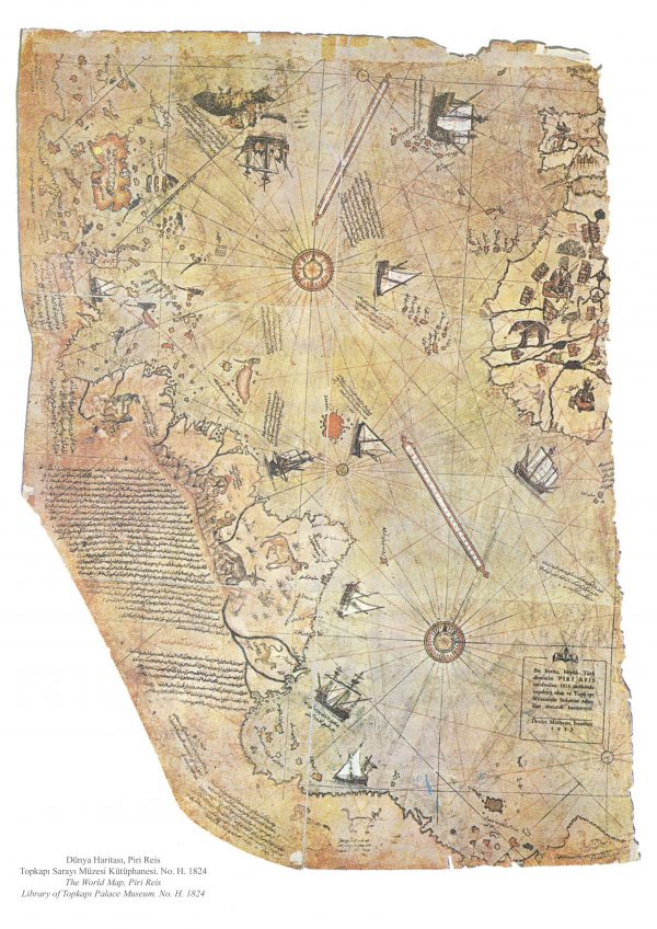 Piri Reis map of 1513.