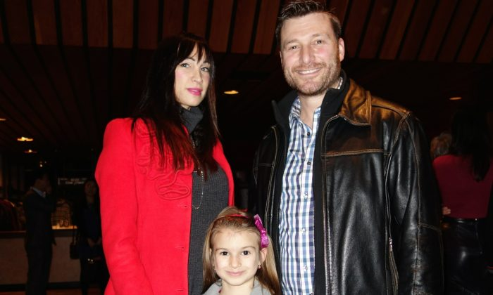 (L-R) Vesna, Kasi, and Mike Vujovic attended Shen Yun's opening night at Hamilton Place Theatre on Saturday, Dec. 27, 2014. (Matthew Little/Epoch Times)