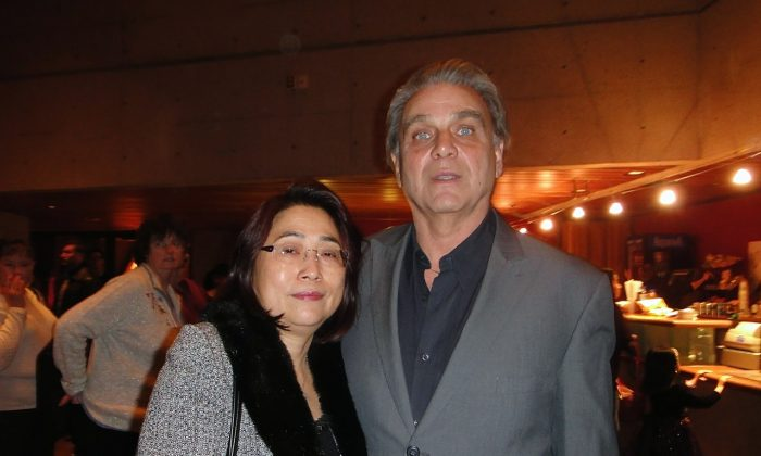 George Angus and his wife Josephine Tan enjoyed Shen Yun's opening night at Hamilton Place on Dec. 27, 2014. (Xinxin Teng/Epoch Times)