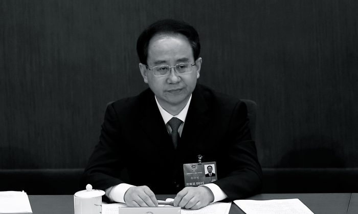 Former chief of the United Front Work Department, Ling Jihua, at the plenary session of the Chinese People's Political Consultative Conference on March 8, 2013, in Beijing. The United Front is involved in political agitation and propaganda activities inside and outside China. (Lintao Zhang/Getty Images)