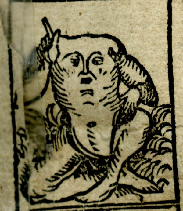An illustration of a Blemmye in the Nuremberg Chronicles, 1500.