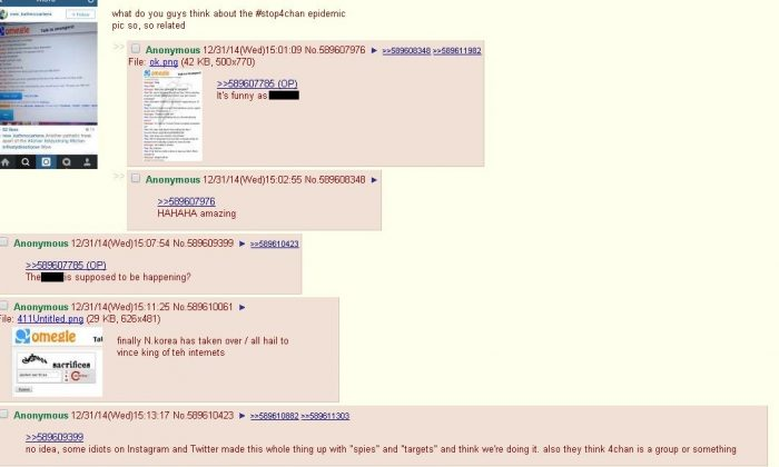 Alleged users on 4chan and 8chan--anonymous imageboards--are apparently targeting Tumblr users en masse as part of an attack. However, it's unclear if 4chan or 8chan users are actually involved in the whole thing. (Screenshot 4chan's /b/ section)