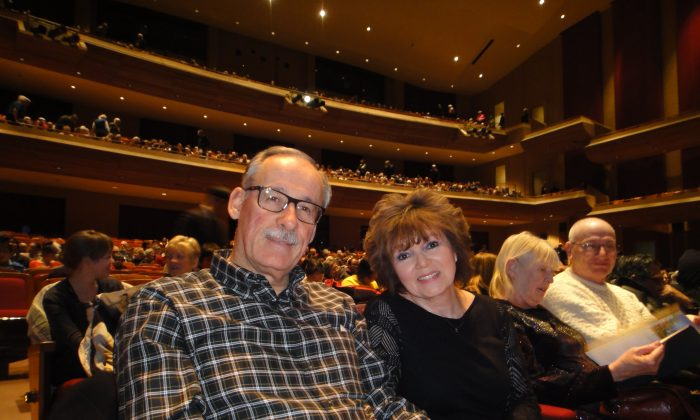 Gordy Mackenzie and his wife, Darlene, were deeply impressed by Shen Yun's renowned depiction of traditional Chinese culture at Centre In The Square on Dec. 30, 2014. (Xinxin Teng/Epoch Times)