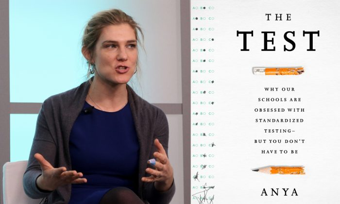 "Anya Kamenetz, author of ""The Test: Why Our Schools are Obsessed with Standardized Testing—But You Don't Have to Be,"" and NPR's lead digital education reporter, spoke on Jan. 8, at the New America Foundation. (Gary Feuerberg/Epoch Times)"