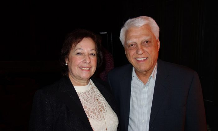 Dr. George Trigylidas and his wife Tina were thrilled with Shen Yun's depiction of traditional Chinese culture at the National Arts Centre in Ottawa on Jan. 2, 2014. (Grace Dai/Epoch Times)