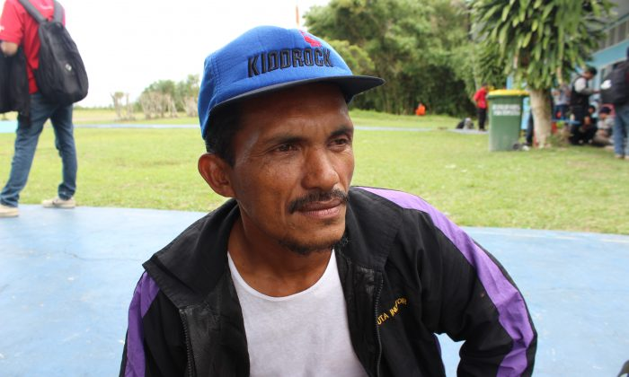 Rahmat, fisherman from Kampung Kubu in Central Kalimantan, Indonesia becomes key witness to finding AirAsia Flight 8501,  in his village on Dec. 30, 2014. (Asari/Epoch Times)