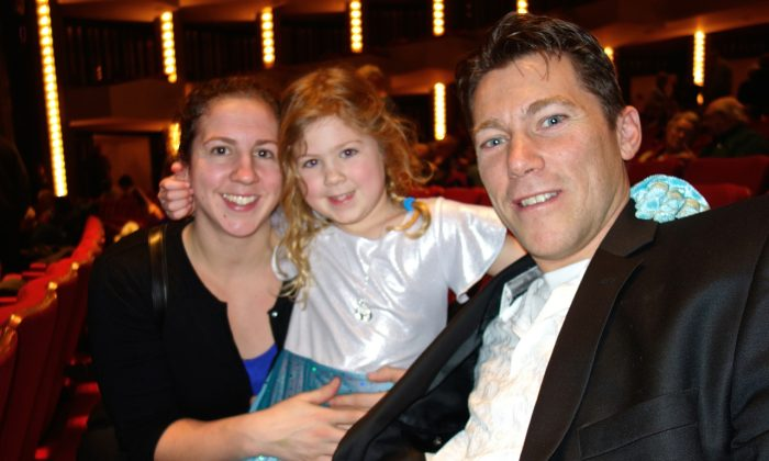 John Leroux attended Shen Yun's Ottawa finale at the National Arts Centre on Jan. 4, 2015, along with his wife Nathalie and daughter Akira. (Grace Dai/Epoch Times)