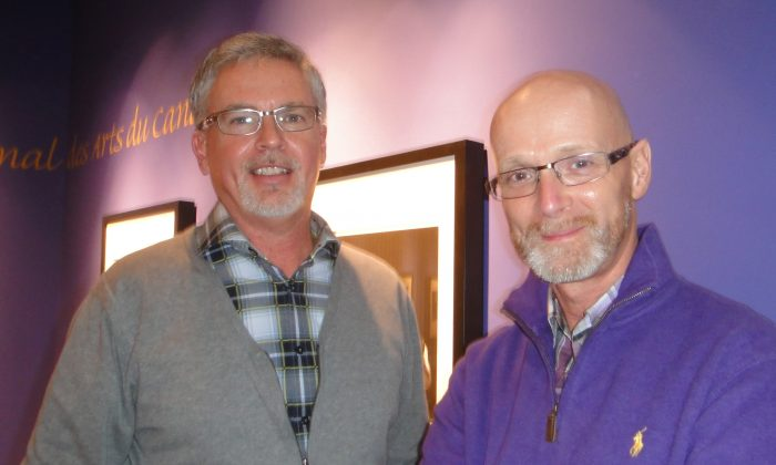 Robert Hijman (L), a consular officer in Ottawa, and Ron Hodge, who works in sales, shared their enthusiasm after seeing Shen Yun Performing Arts at the National Arts Centre in Ottawa on Jan. 4, 2015. (Dongyu Teng/Epoch Times)